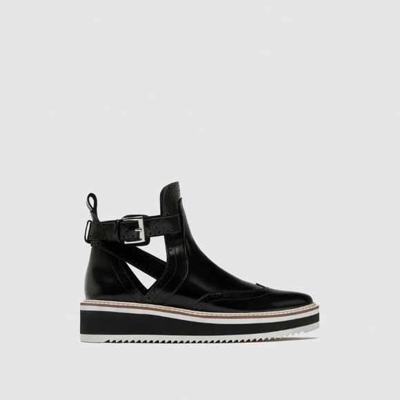 fffa2d0a0a0f Zara Flat Cut-Out Ankle Boots
